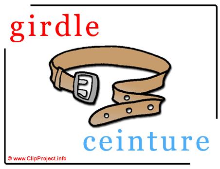 Girdle - ceinture abc image dictionnaire anglais francais