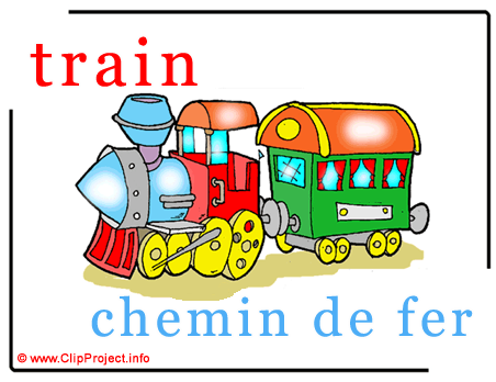 Train - chemin de fer abc image dictionnaire anglais francais