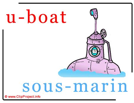 U-boat - sous-marin abc image dictionnaire anglais francais