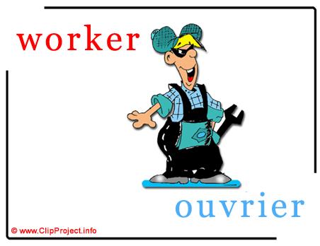 Worker - ouvrier abc image dictionnaire anglais francais