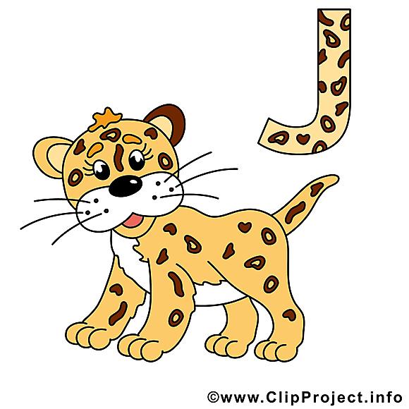 J jaguar alphabet allemand illustration gratuite