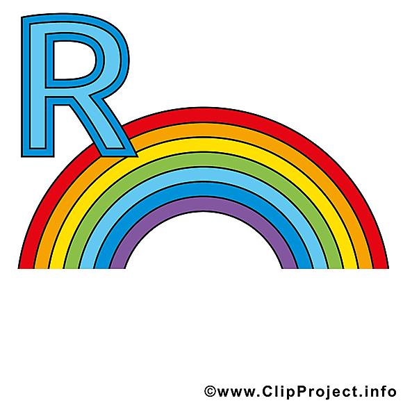 R regenbogen image – Alphabet allemand cliparts