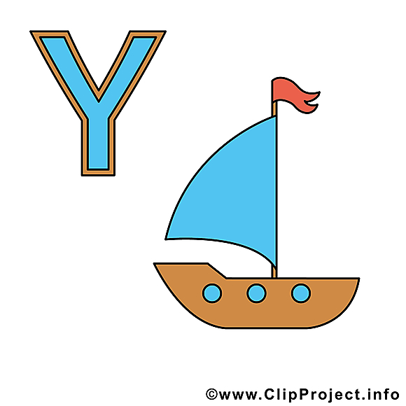 Y Yacht image – Alphabet allemand clipart
