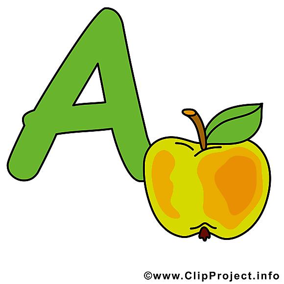 A apple clip art – Alphabet english image gratuite