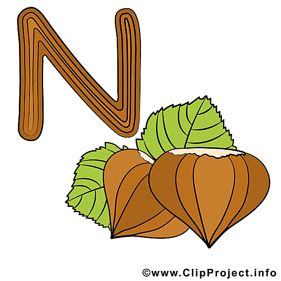 N nut images – Alphabet english dessins gratuits