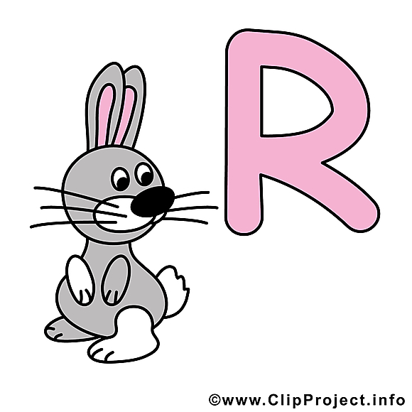 R rabbit clipart – Alphabet english dessins gratuits