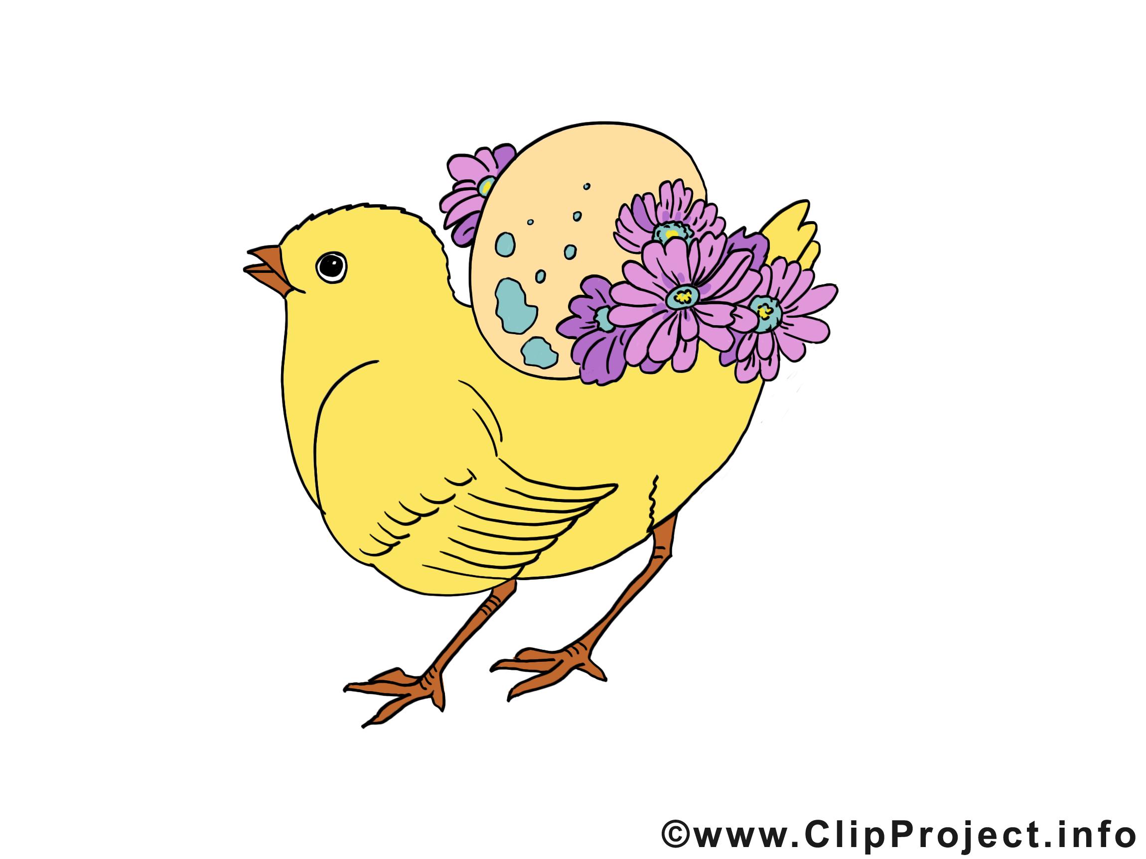 Poussin pâques image gratuite
