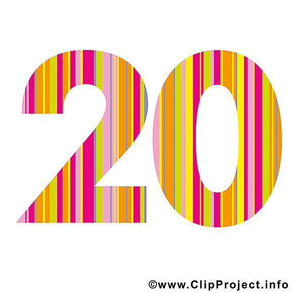 20 ans clip art gratuit – Anniversaire images