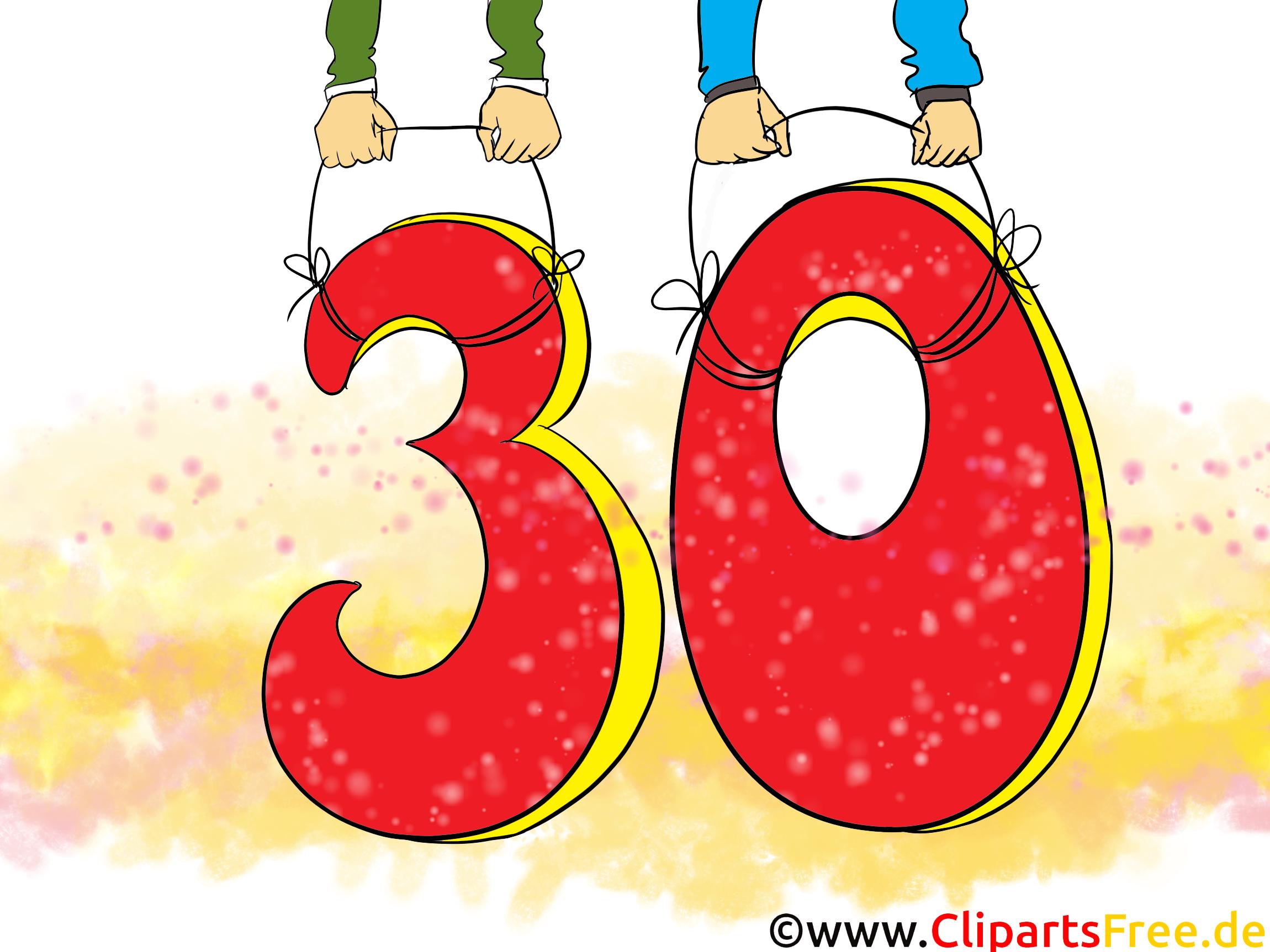 30 ans dessins gratuits – Anniversaire clipart