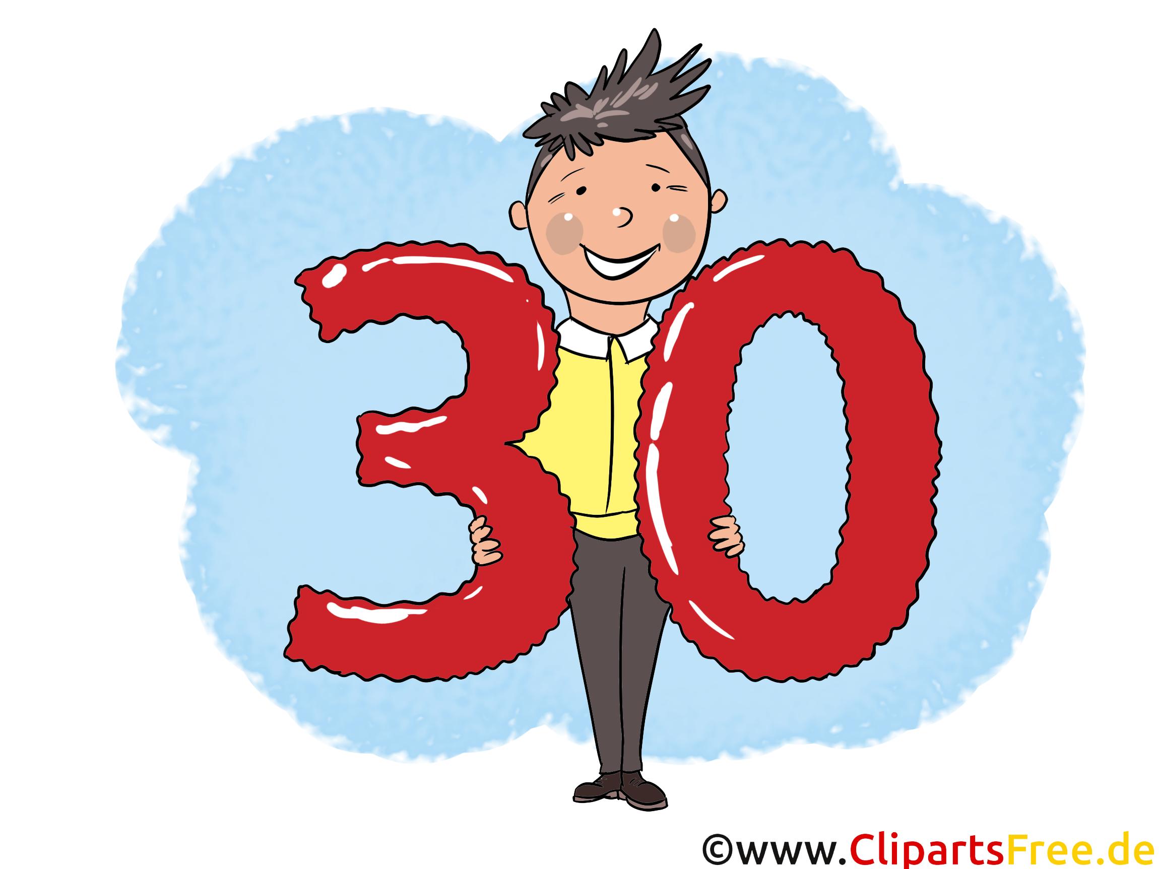 clipart gratuit anniversaire 30 ans - photo #25