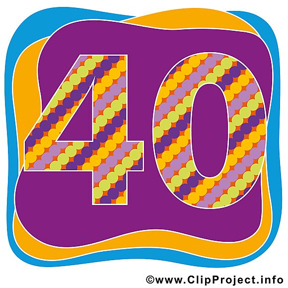 40 ans dessin – Anniversaire clip arts gratuits