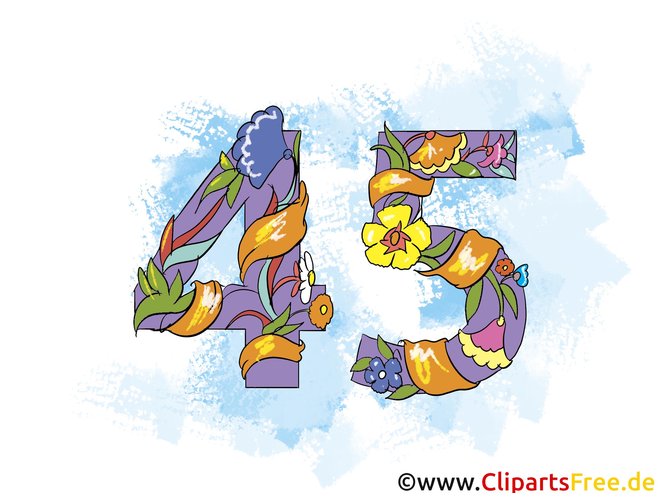 45 ans dessin – Anniversaire à télécharger - Anniversaire dessin, picture, image, graphic, clip ...