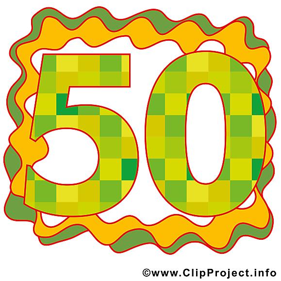 50 ans clip art – Anniversaire image gratuite
