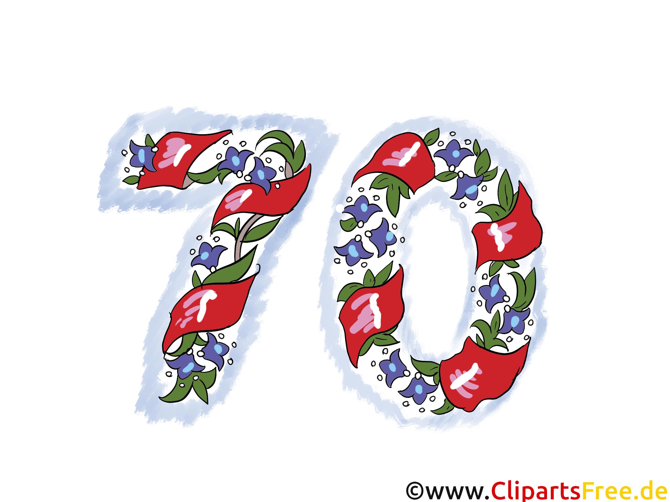 70 ans anniversaire image à télécharger gratuite