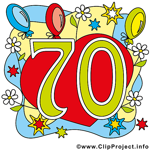70 ans image t l charger anniversaire clipart - Clipart anniversaire gratuit ...