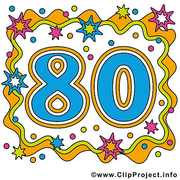 80 ans clipart anniversaire dessins gratuits anniversaire dessin picture image graphic - Clipart anniversaire gratuit telecharger ...
