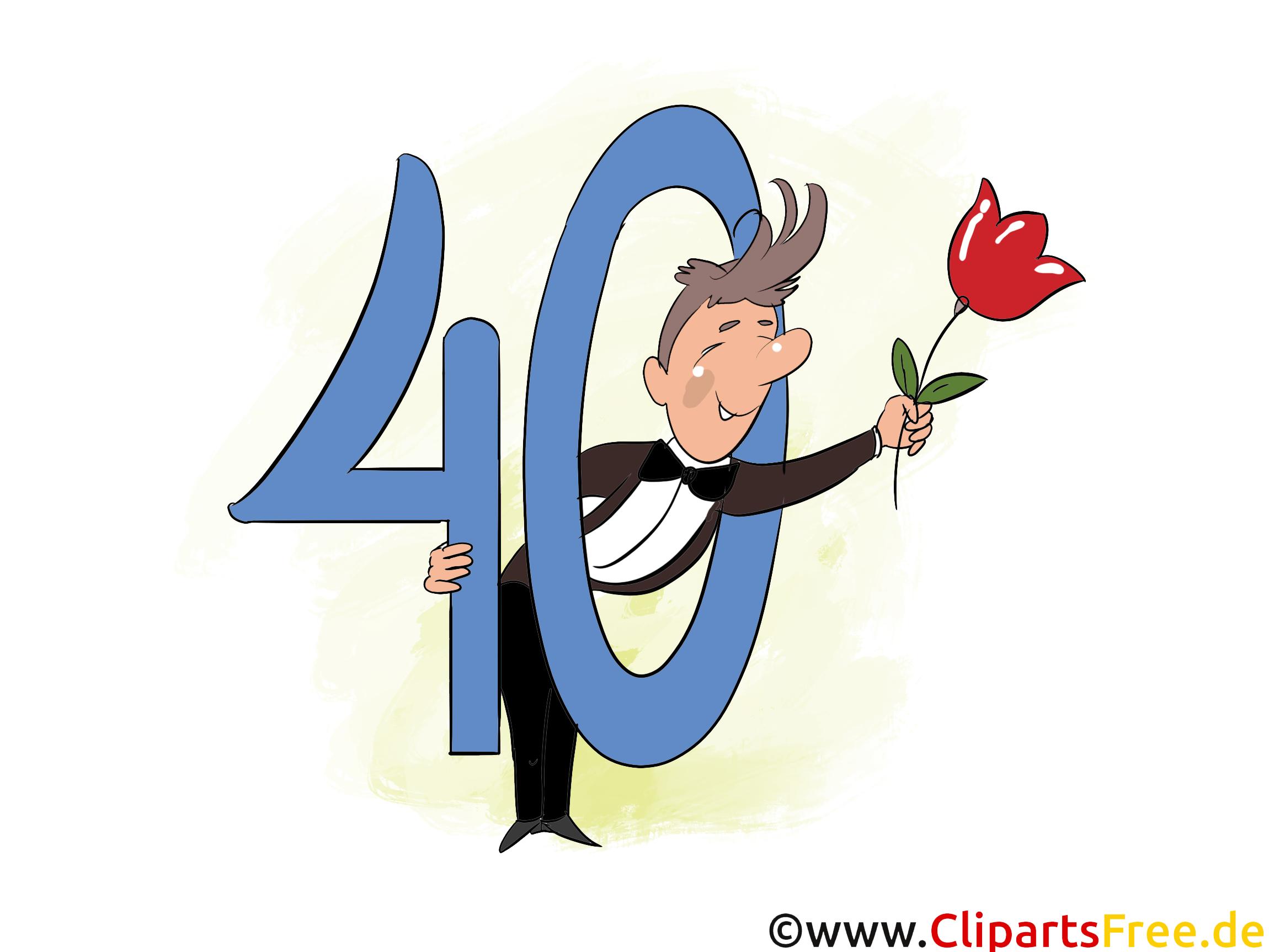 Anniversaire 40 ans image à télécharger gratuite