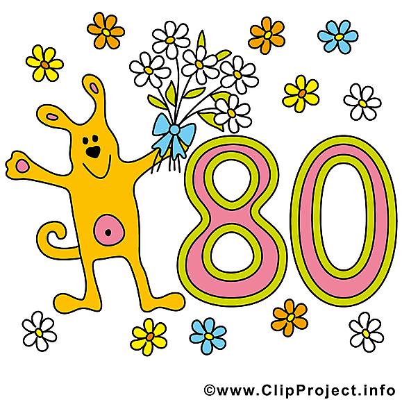 Chien 80 ans images – Anniversaire dessins gratuits