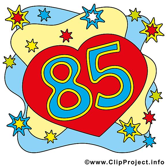Coeur 85 ans dessin gratuit – Anniversaire image