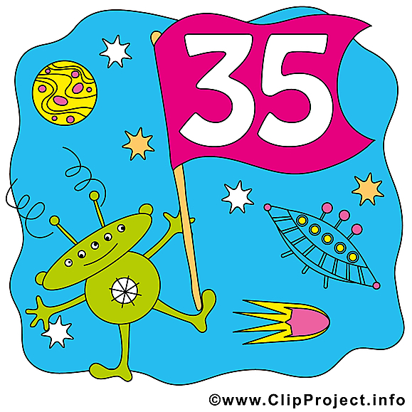 Extraterrestre 35 ans image – Anniversaire cliparts