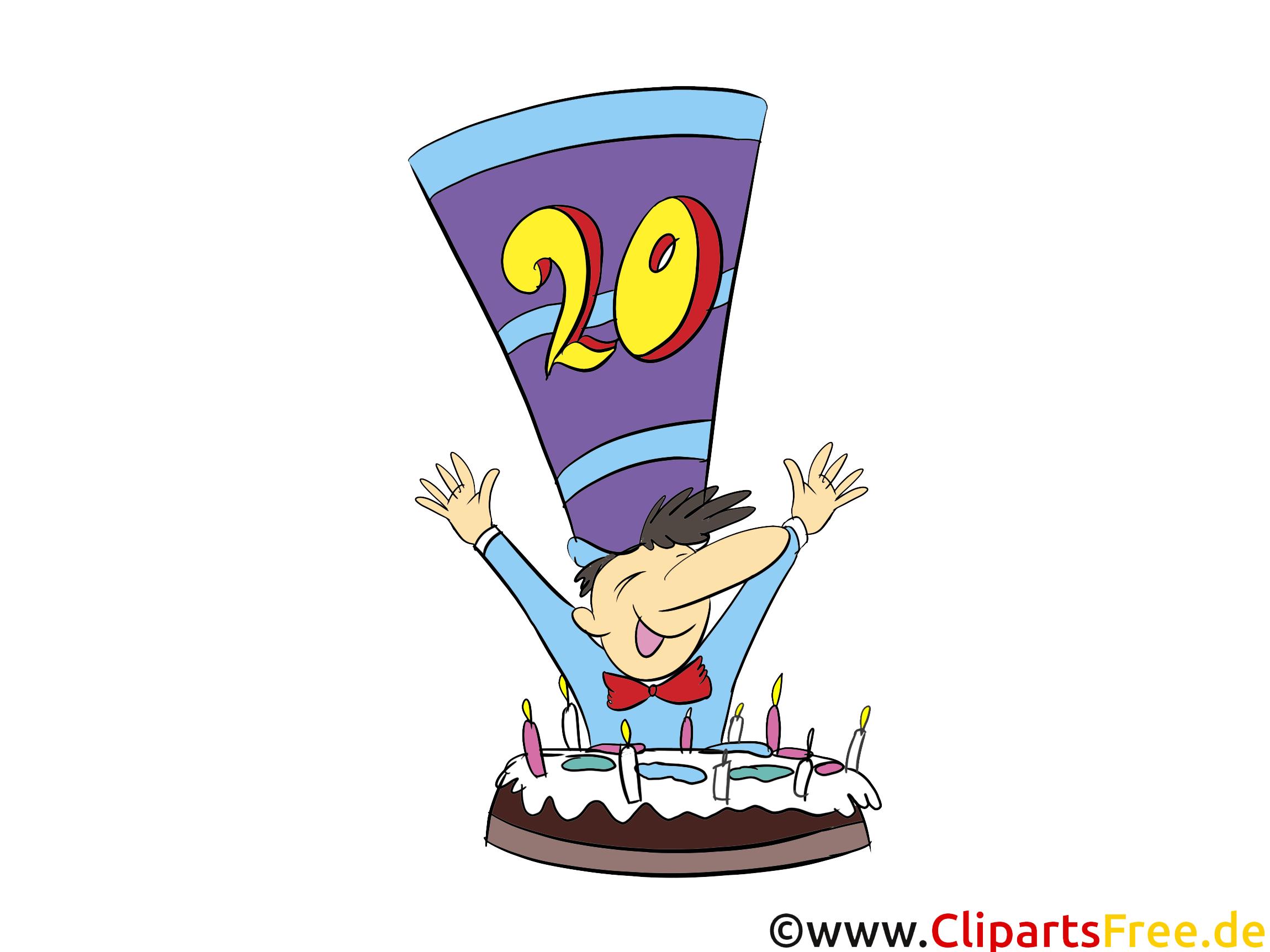 Gâteau 20 ans images – Anniversaire clip art gratuit