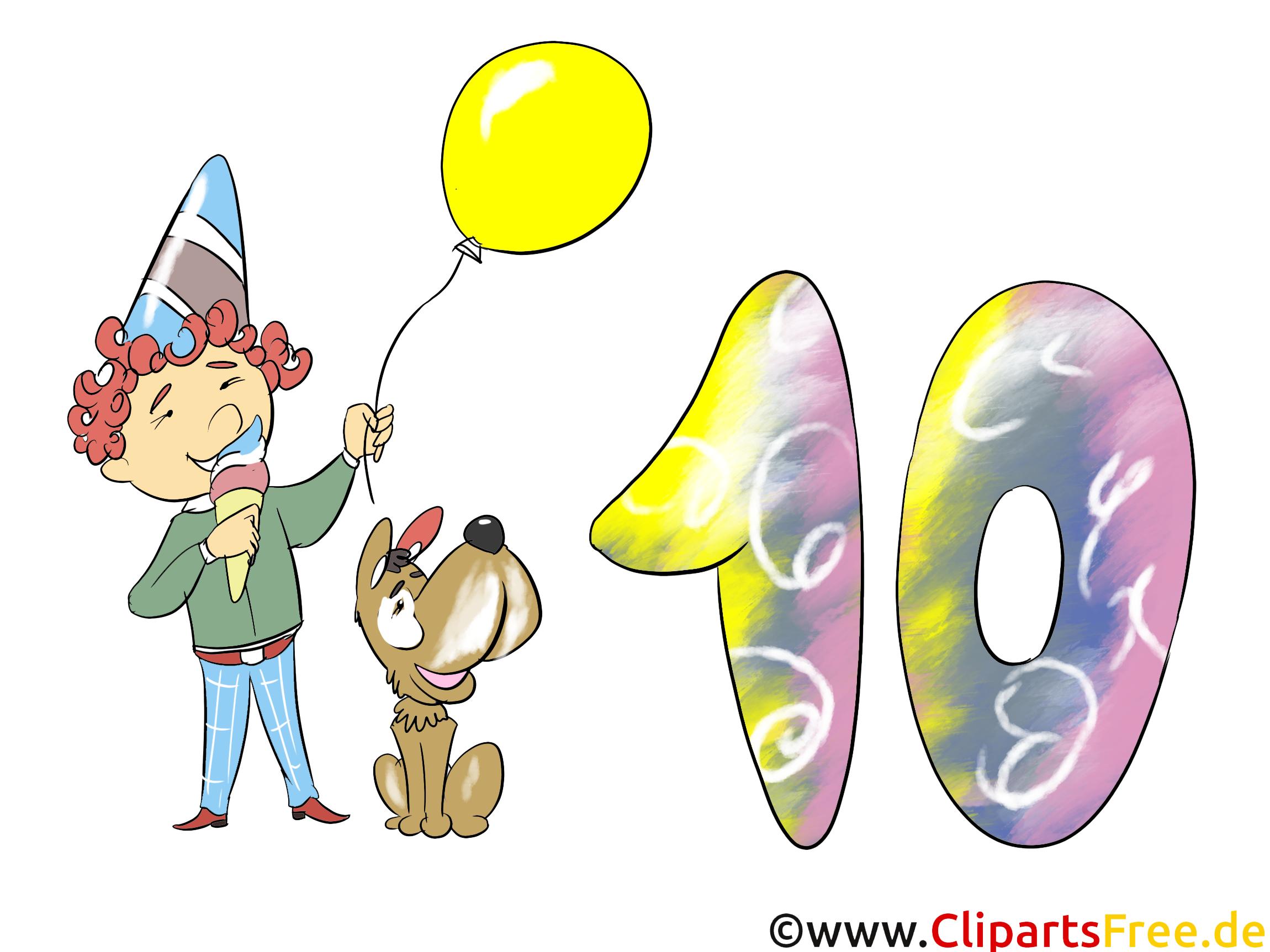 Soirée 10 ans dessin – Anniversaire à télécharger