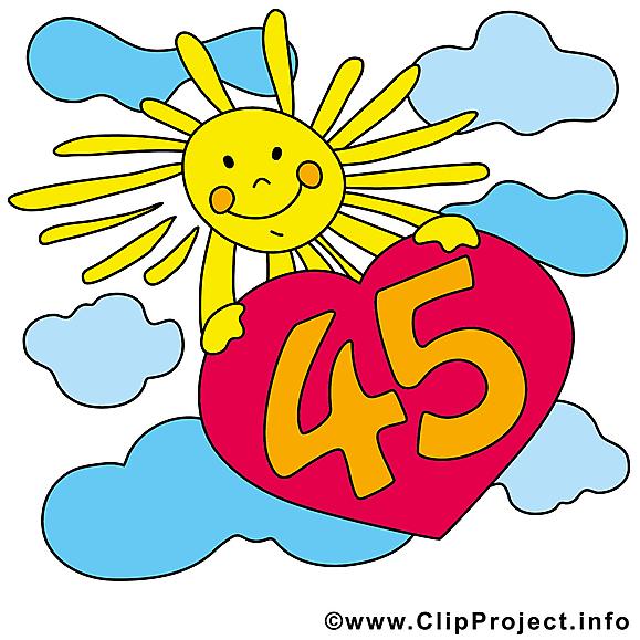 Soleil 45 ans images gratuites anniversaire clipart anniversaire dessin picture image - Clipart anniversaire gratuit telecharger ...