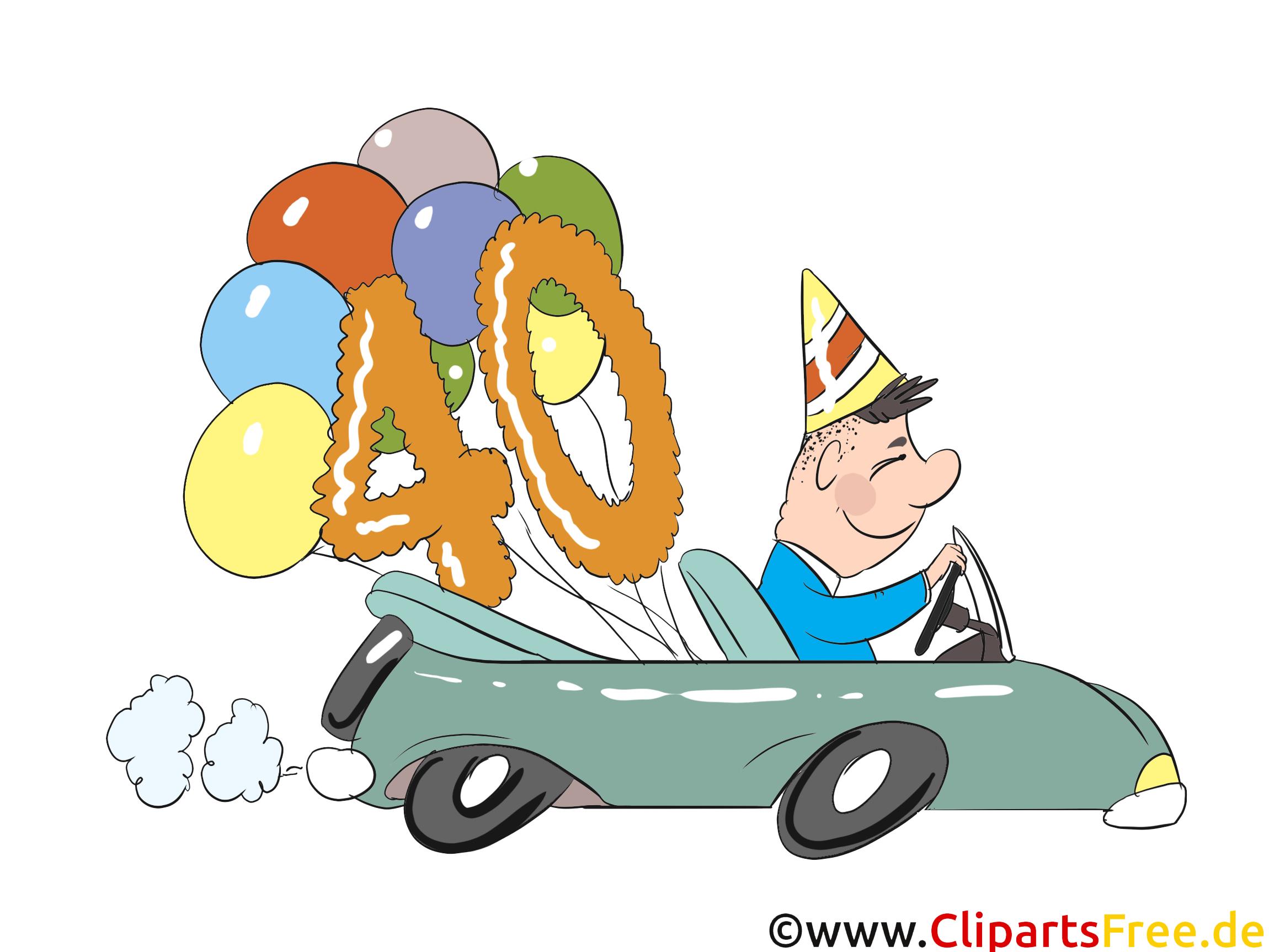Voiture 20 ans clipart – Anniversaire dessins gratuits