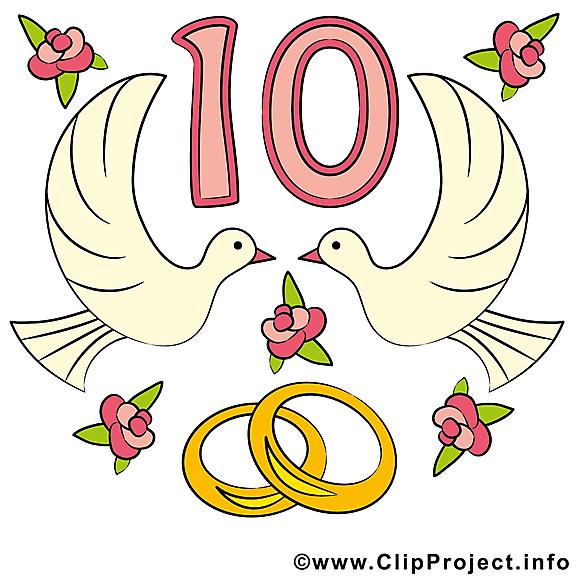 10 Ans Anniversaire Mariage Images Anniversaires De