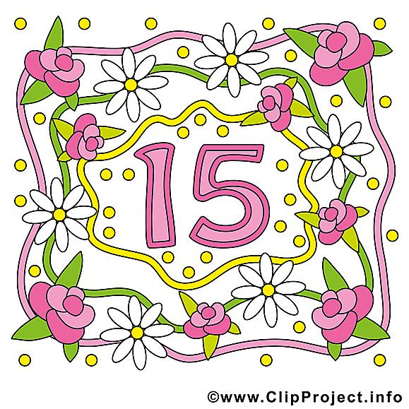 15 ans anniversaire mariage dessin