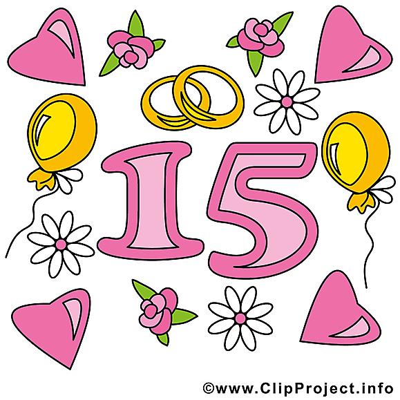 15 ans illustration anniversaire mariage images