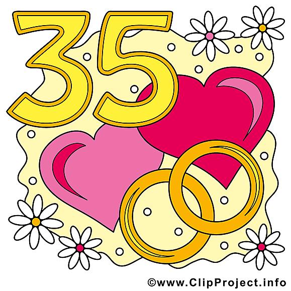35 ans coeurs anniversaire mariage clipart anniversaires for Dans nos coeurs 35