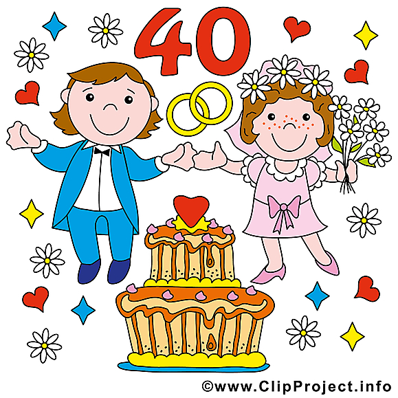 40 ans anniversaire mariage à télécharger