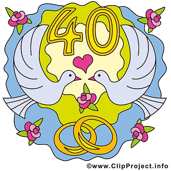 40 ans anniversaire mariage images anniversaires de mariage dessin picture image graphic - Dessin anniversaire de mariage ...