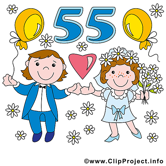 55 ans anniversaire mariage images