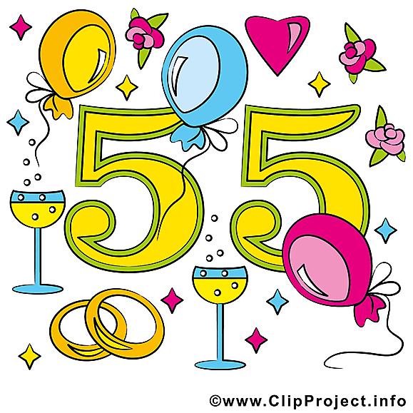 55 ans anniversaire mariage images cliparts