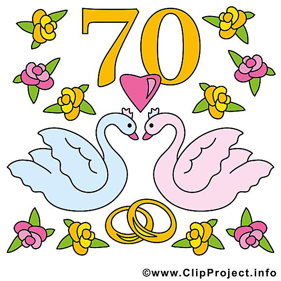 70 ans anniversaire mariage image
