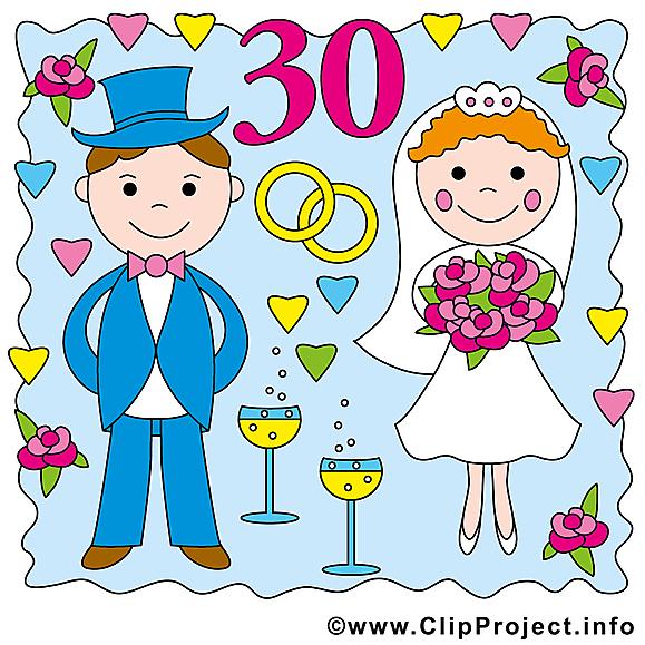 Anniversaire de mariage clip art gratuit – 30 ans images