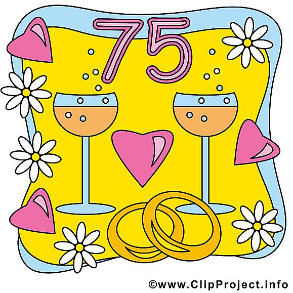 Anniversaire de mariage clipart 75 ans dessins gratuits anniversaires de mariage dessin - Dessin anniversaire de mariage ...