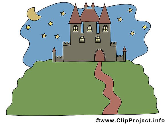 Château illustration – Biens immobiliers clipart