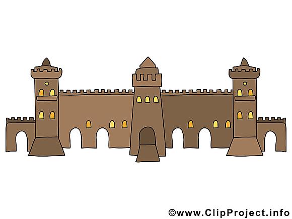 Fortificationclip art gratuit – Biens immobiliers dessin