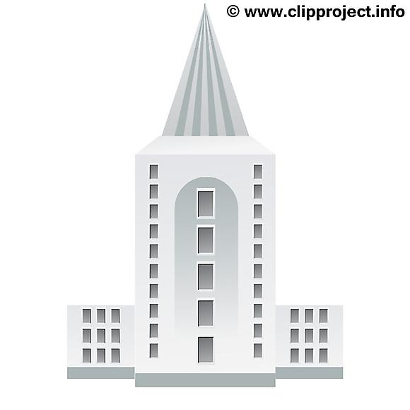 Illustration à imprimer gratte-ciel – Biens immobiliers