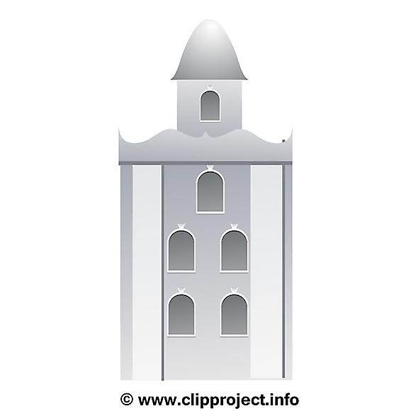 Image à colorier immeuble – Biens immobiliers clipart