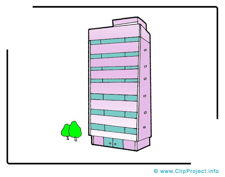 Immeuble clipart – Biens immobiliers dessins