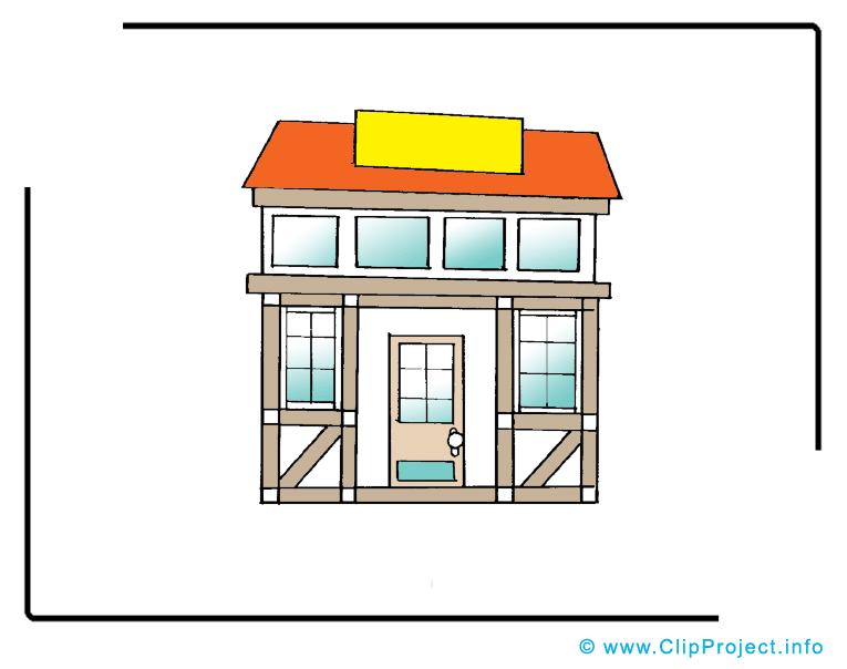 Vieux bâtiment clipart – Biens immobiliers images
