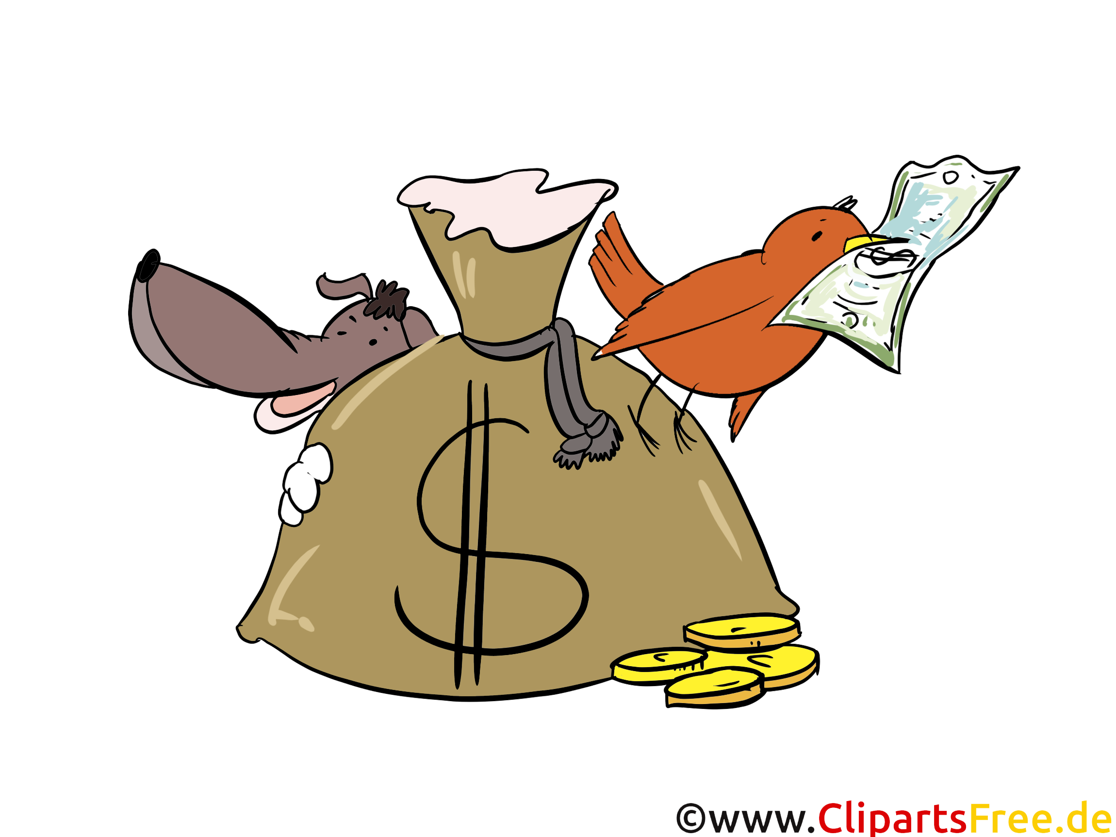 Animaux images gratuites – Argent clipart