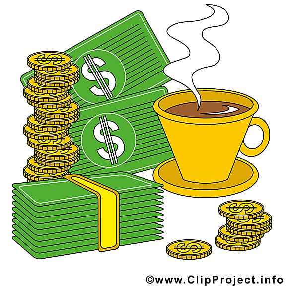 Café dollars dessin – Argent à télécharger