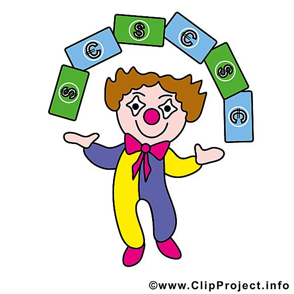 Clown image gratuite – Argent clipart