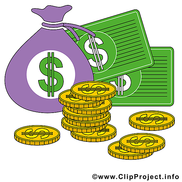 Dollars dessins gratuits – Argent clipart