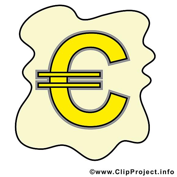 Euro clip art gratuit – Argent dessin